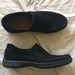 Bostonian Duralite black suede loafers 7